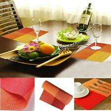 Set Table Mats Of 6 for Dinning Kitchen Washable Heat Resistant Color Vinyl PVC