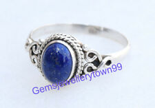 925 STERLING SILVER BLUE LAPIS LAZULI RING STONE GEMSTONE RING ANY SIZE R8LP