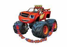 Blaze and the Monster Machines Rice / Wafer Paper or Icing Cake Topper 20cm #4
