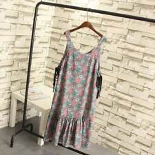 O Neck Sleeveless Casual Floral Ruffles Midi Loose Dress Plus Size For Women