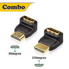 HDMI Male to Female Angle Port Saver Adapter Connector 180 / 90 or 270 Degree US