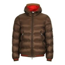 New MONCLER padded jacket JEANBART 41973 53334 brown detail orange down W/CODE