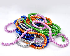"""Glass Pearl Imitation Round Beads - 32"""" Strand - 8mm - 105 pcs. - Pick the color"""