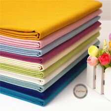 Cotton Linen Fabric Solid Natural Cloth Upholstery Crafts Material Sewing Quilt