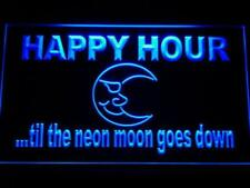 Happy Hour Blue Moon LED Neon Light Sign