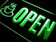 Open Coffee Cafe LED Neon Light Sign
