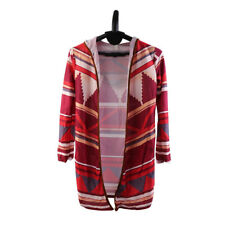 Women Long Sleeve Hand Knitted Striped Fashion Irregular Loose Cardigan GA
