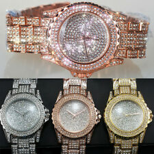 Luxury Lady Watch Full Crystal Rhinestone Quartz Analog Wristwatches Dress Watch