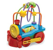 Fun Time Push a Long Vehicles Young Children Tractor, Digger, Train, Bus, Fire