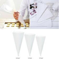 3 Size Silicone Reusable Icing Piping Cream Pastry Bags DIY Cake Decor Tools NEW