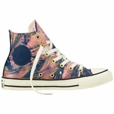 Converse Chuck Taylor All Star Hi Pale Coral Navy Womens Satin High-top Trainers