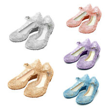 New Summer Girl Kid Frozen Cosplay Shoes Fancy Princess Sandals Jelly Shoes Size
