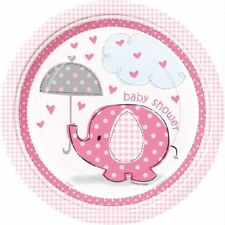 Pink Girl Baby Shower Party Tableware-Plates,Cups,Napkins*35p P&P on extra items