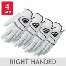 Callaway Men's Leather Golf Gloves Regular Right Handed 4-Pack Select Size CHEAP