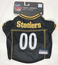 NEW NFL Team Jersey Pet Wear Pittsburgh Steelers Mesh Dog Jersey Size S M L XL
