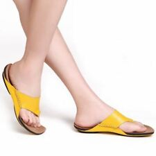 Woman Flip Flops Genuine Leather Slippers Beach Slides Summer Shoes