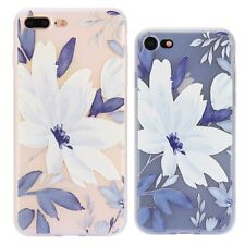 Girl Colorful Cute Flower Pattern Slim Thin Soft TPU Case For iPhone 7 8 Plus