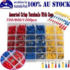 Assorted Insulated Crimp Terminals Spade Electrical Wire Connectors BO