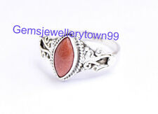 Goldstone Sunstone Ring 925 Sterling Silver Girl Women Stone Ring All Size R9SN