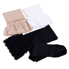 Women Ladies Ultrathin Shiny Sheer Lace Top Thigh High Nylon Stockings Hold Ups
