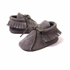 Baby Girl Soft Moccasins Fringe Soled Non-slip Footwear Crib Shoes