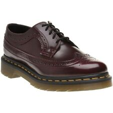 New Womens Dr. Martens Red Maroon Vegan 3989 Shoes Brogue Lace Up
