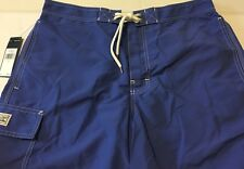 NWT New RALPH LAUREN POLO Men Hyannis Blue Swim Trunks Pool Vacation $65 X-Large