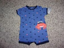 Carters Baby Boys Snap Up Romper NWT Sizes 3,6 and 9 Months NWT