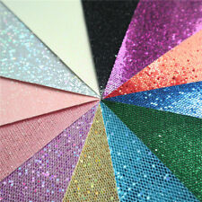 Sparkle Hexagon Glitter Fabric Roll Leather Vinyl Crafts 6/12 Sheets A4/A5 Bows