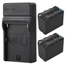 2x 7800mah Camera Replacement Li-ion Battery + Charger For Sony NP-F960 NP-F970