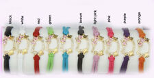 HelloKitty Gold Color Pave Rhinestone Leather Bracelet Chains Multi Colors