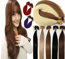 Pre-bonded Keratin Nail U Tip Indian Remy Human Hair Extensions 16/22Inch 0.5g/s