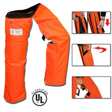 Chainsaw Safety Protective Chaps Orange All New Zipper Style Chainsaw Chaps