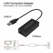 USB Ethernet LAN Adapter Cable Internet Network For Nintendo Switch/ Wii / Wii X