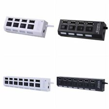 4/7-Port LED USB 2.0 Adapter HUB with Power ON/OFF Switch For PC Laptop Computer