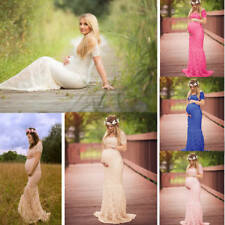 Women Gown Maternity Maxi Dress Wedding Party Dresses Pregnant Photography Props