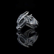 Dragon Head Ring, sterling silver, adjustable size, handmade
