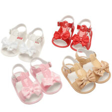 Toddler Baby Girls Bowknot Crib Shoes Soft Sole Anti-slip Single Shoes Sandals