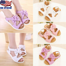 Baby Infant Kid Boy Girl Soft Sole Crib Toddler Summer Open Toe Sandals Shoes US