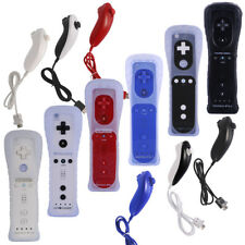 For Nintendo Wii&Wii U Built in 2in1 Motion Plus Remote Controller/ Nunchuck New