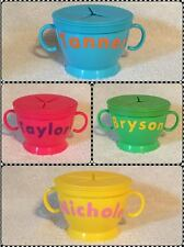 Personalized Snack Container Cup Baby Toddler No Spill Custom Made Boy Girl