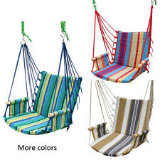New Garden Outdoor Cotton Striped Hanging Hammock Chair Hanging Swing Seat Porch