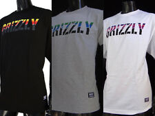 New Grizzly Griptape Stamp Daw Tee Skateboard Co. Mens Sport T shirt
