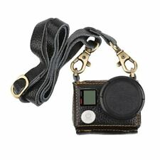 Leather Protective Case For Gopro Hero 4 3+ Action Camera With Lens Cover and Sl