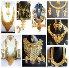 22K Glold Plated Indian Necklace Wedding Earrings All Time Wear Variation b