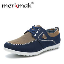 2018 new brand canvas casual men shoes british loafers flats mens masculino