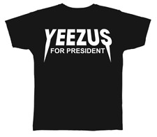 Kanye West Yeezy Yeezus For President Short Sleeve Black T-Shirt