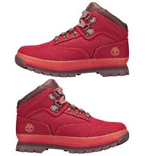 NEW Timberland Big Kids Shoes Junior Youth Euro Hiker Fabric Lace Up Boots