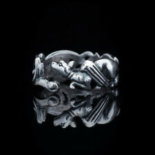 Viking Dragon Ring, sterling silver, adjustable size, handmade