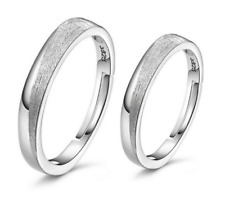 Glamour Couples Opening Adjustable Size 925 Silver Plated Band Ring Gift ET1128